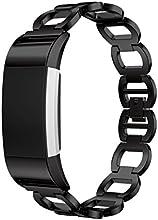 ihee ajustable suavidad inoxidable acero reloj inteligente pulsera correa de banda para Fitbit Charge 2