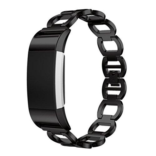 ihee regolabile Morbidezza Smart Watch Bracciale Cinturino in Acciaio per Fitbit Charge 2, (Bar Keepers)