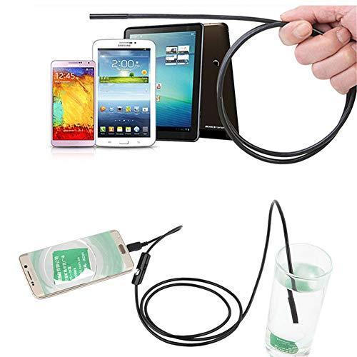 zerone Endoskop-Kamera, USB Endoskop, HD Digital mit 6 LED-Lichter 5,5 cm Inspektionskamera IP67 wasserdicht für Android PC