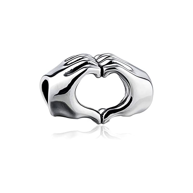 Love Heart Hands Charm – S925 Sterling Silver