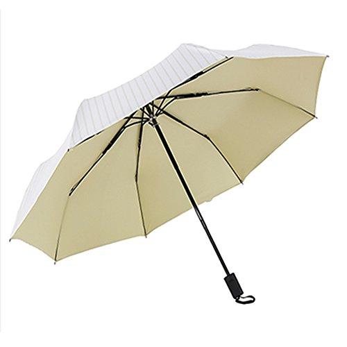 Bbf ombrello piccola pioggia fresca e pioggia ombrello doppio uso ombrello da sole antivento ombrello da lavoro automatico antiscivolo maniglia pieghevole ombrello facile da trasportare piccolo ombrel