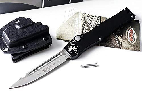 Multi EDC Outdoor Taschenmesser Klappmesser Titan Aluminium griff flipper Teleskop Messer 440C stahl Klinge Überlebensmesser Rettungsmesser schwarz Gürtelmesser Kydex scheide Pocket knife