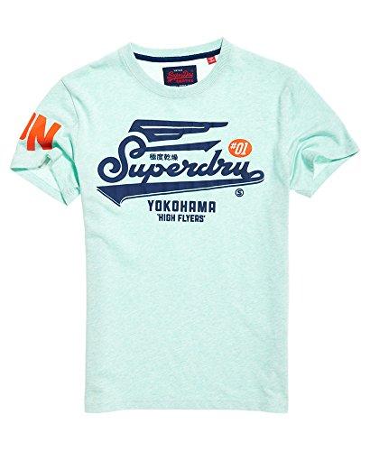 Superdry T-Shirt - Manches Courtes - Homme Vert Green(Pastel d'occasion  Livré partout en Belgique