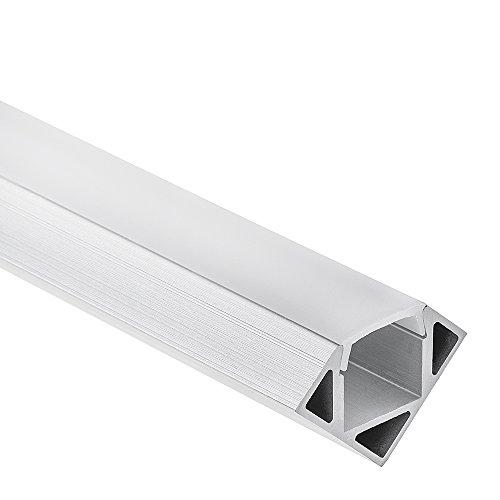 LED Aluminium Profil P23 Pollux f. LED Streifen Eckprofil Aluprofil (2 Meter Opal)