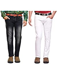 American Noti Multi Denim Faded Stretchable Skinny Fit Cotton Lycra Jeans Combo-Pack Of 2 - B06XPJLHYM