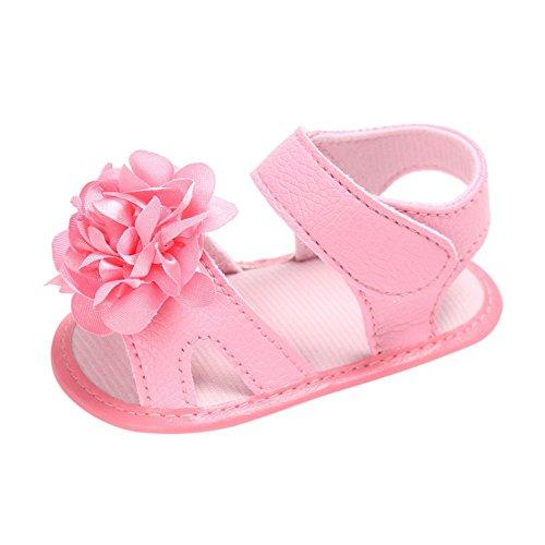 cd6101e2752b76 MiyaSudy Baby Schuhe Kleinkind Mädchen Sandalen Blumen Weichen Sohlen Prinzessin  Schuhe Pink 1