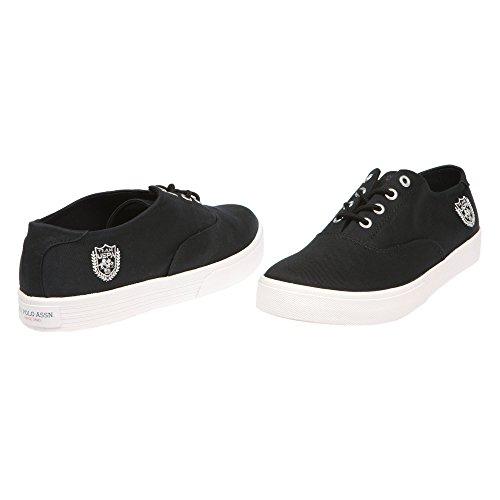 U.S. POLO Chaussures femme avec fermeture à lacets, style Sneaker - mod. GALAD4184S7-CY1 Noir