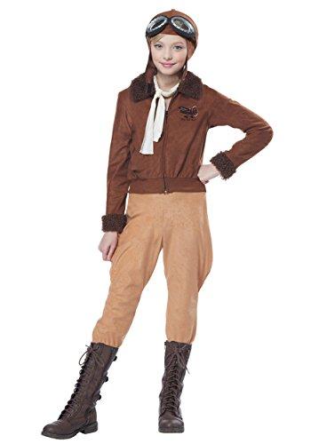 Child Amelia Earhart/Aviator Fancy Dress Costume Small (Amelia Pilot Earhart)