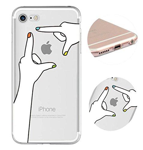 Cover iPhone 6 Plus Custodia telefono creativo trasparente silicone Guscio morbido Anti Graffio Copertura protettiva Anti-polvere paraurti Si applica a iPhone 6/6S Plus(5.5) disegno-9