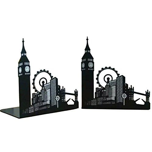 fancyus Londres City Big Ben Grande Roue antidérapante serre-livres, 1paire