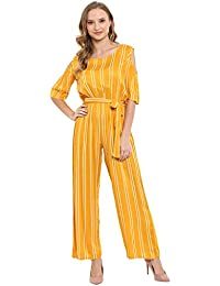 855ef001fe Amazon.in  Yellows - Jumpsuits   Dresses   Jumpsuits  Clothing ...
