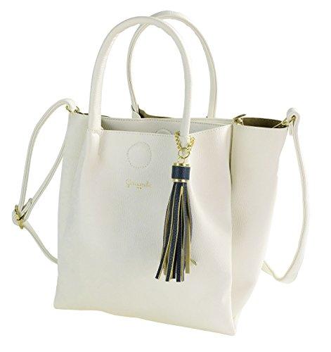 Camomilla Milano , Sac pour femme à porter à l'épaule Blanc Bianco S