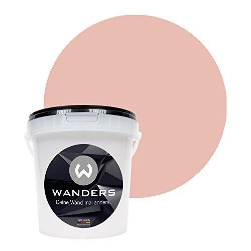 Wanders24 Tafelfarbe (1Liter, Japan Rosé) matte Wandfarbe in 20 Farbtönen erhältlich, individuelle Gestaltung für Zuhause, Farbe made in Germany