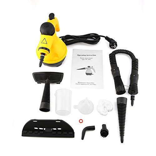 CHOULI Elektrischer Dampfreiniger Tragbarer Handdampfer Haushaltsreiniger Werkzeug Gelb & Schwarz - Schwarze Granit-küche Top