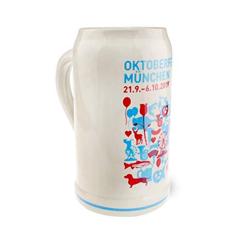 Offizieller Oktoberfestkrug 2019, 1 Liter, Limitierte Auflage, Sammleredition