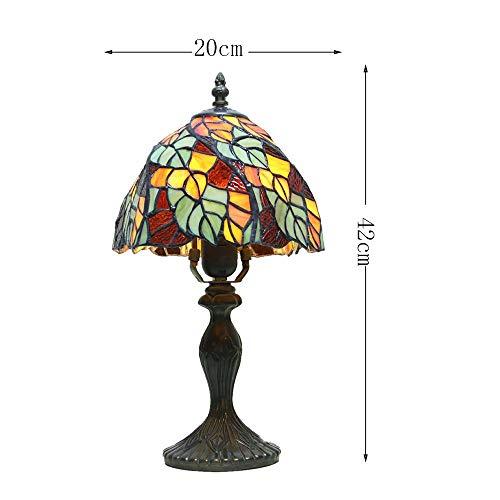 GBX Schöne und kreative Augenschutzlampe, Tiffany Stil Europäische Blatt Tischlampe Studie Schlafzimmer Wohnzimmer Augenschutz Nachtlicht -