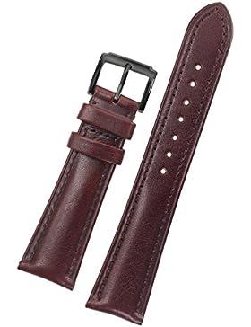 22mm Halb Öl gegerbtem Leder Ersatz Uhrarmbänder braun Riemen High-End für Luxusmarken mit schwarzer Schnalle