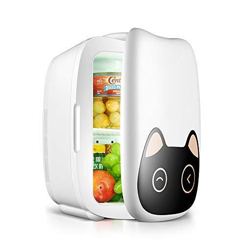 Moderner tragbarer kompakter persönlicher Mini-Kühlschrank kühlt und heizt 6-Liter-Fassungsvermögen Steckdose und 12-V-Autoladegerät im Schlafsaal für Frauen Wesentliches für den Sommer NYGJMNBX