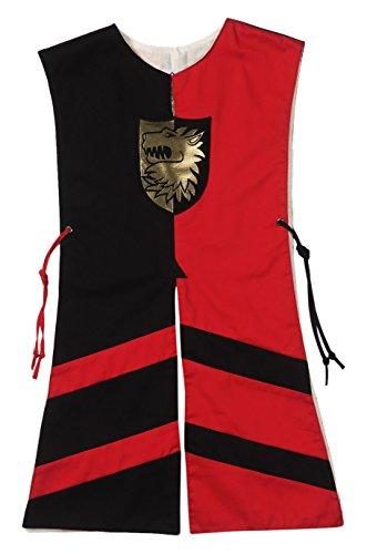 Fantashion G 715 - Kostüme für Kinder, Wappenrock Paul, Größe 2, schwarz/rot (Wappenrock Kostüm)