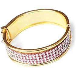 Akinos KIDS Elegant Diamond Studded Bangle For Girls - Golden (JW31GL)