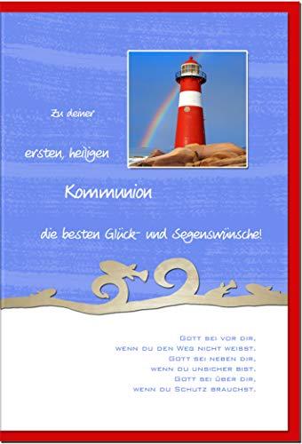 metALUm Karte zur Kommunion LEUCHTTURM   1211004S