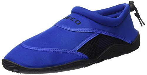 BECO Badeschuhe / Surfschuhe für Damen und Herren blau/schwarz 43 (Strand-herren-schuhe)