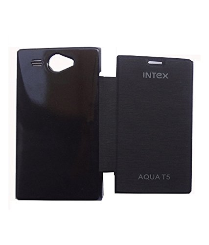 Evoque Flip Cover For Intex Aqua T5 - Black  available at amazon for Rs.149