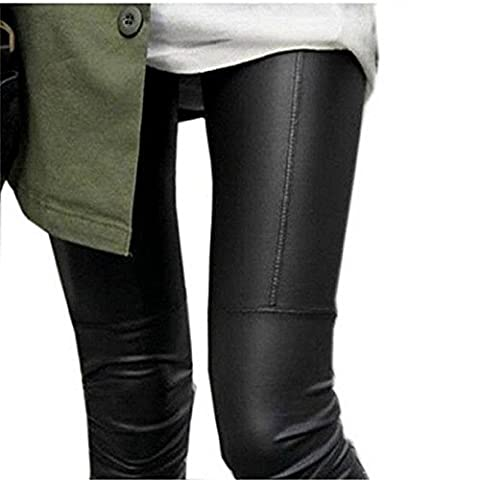 IHRKleid Damen Leggings Schwarz Baumwolle Legging M/L/XL/XXL (EU40(Asia XL), Schwarz)