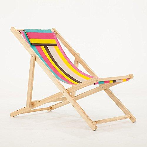 MSNDIAN Vie Loisirs Chaise de Plage Pliante Toile Piscine extérieure Chaise Longue Balcon extérieur Chaise Longue Chaise Pliante Simple (Couleur : Orange)
