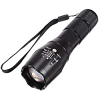 الترا فاير E17 CREE XM-L T6 2000 LM ال اي دي قابل للتكبير ضوء فلاش
