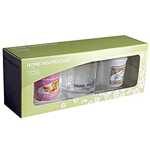 Official Yankee Candle Home Inspiration Gift Set Votive Starter Pack Includes 2 Candles & Holder
