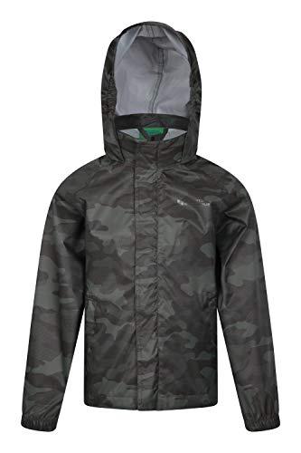 Mountain Warehouse Chaqueta Impermeable Comet Infantil - Ligera, Costuras Selladas - Solapa...