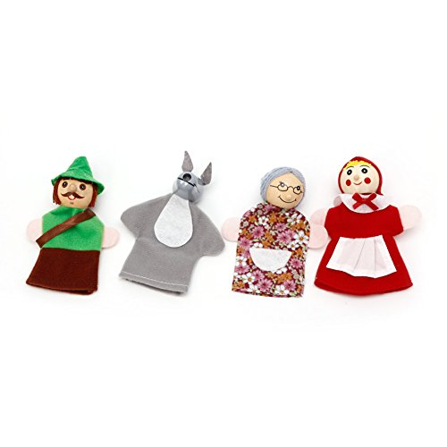 Cansenty Little Red Riding Hood and Wolf Fairy Story Fingerpuppen Spielzeug-Set -
