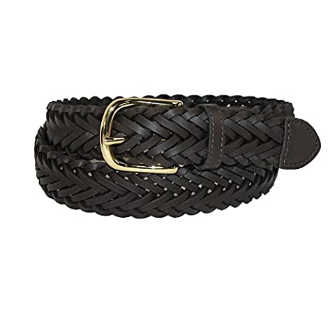 Aquarius Boys' Leather Braided Uniform Dress Belt (Pack of 2),
