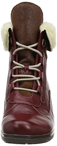 Gabor Cosmic, Boots femme Rouge (Dark Red/Teak Leather)
