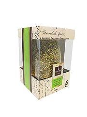 Idea Regalo - Uovo di PASQUA pralinato FONDENTE 60% con granella di pistacchi e SORPRESA,350 gr