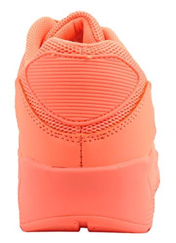 Trendige Unisex Sneaker | Damen Herren Kinder Sport Laufschuhe | Turnschuhe Peach Standard