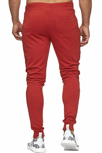 BELLIS® Trouser with long fly Zip Jogginghose Sweatpants Herren S-XXXL / T-00017 B.Red