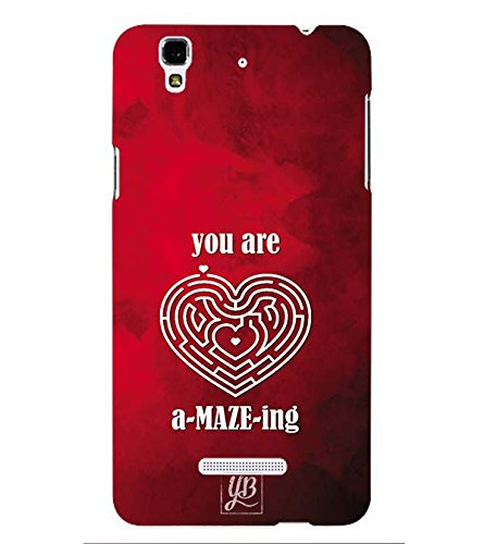 YuBingo Valentine Day Gift Designer Printed Plastic Mobile Back Case Cover Panel for Yu Yureka Plus ( Your Are Amazing )