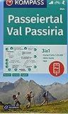 Passeiertal, Val Passiria: 3in1 Wanderkarte 1:25000 mit Aktiv Guide inklusive Karte zur offline Verwendung in der KOMPASS-App. Fahrradfahren. Skitouren. (KOMPASS-Wanderkarten, Band 44)