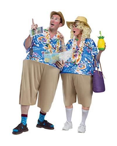 Kostüm Tourist Lustig - Horror-Shop Typischer Pauschurlauber Kostüm