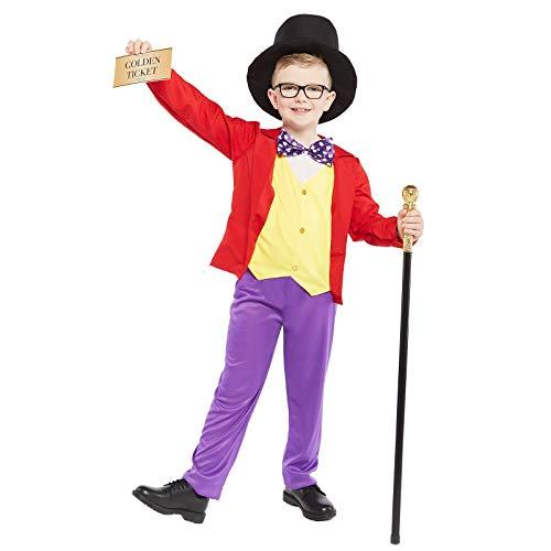 Violett Wonka Kostüm - Fiestas Guirca Herr der Schokoladenfabrik - Willly Wonka Kostüm Kinder Jungen