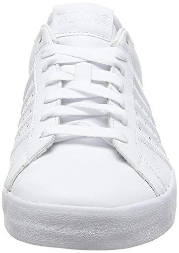 K-Swiss Belmont, Baskets Basses femme Blanc (white/white)