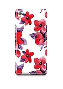 Sony Xperia Z4 Cover,Sony Xperia Z4 Case,Sony Xperia Z4 Back Cover,Z4ring Floral Pattern Sony Z4 Mobile Cover By The Shopmetro-30643