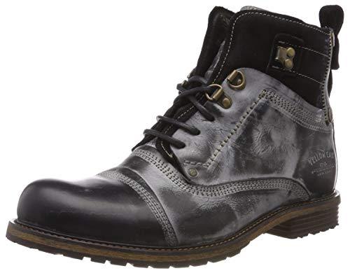 Yellow Cab Herren Soldier M Biker Boots Schwarz (Black) 42 EU