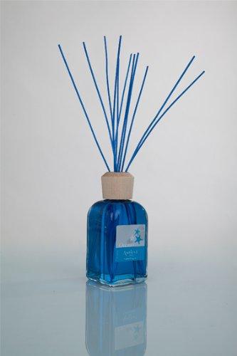 Ambientair Mikado Ambientador para Hogar, Aroma Océano, Cristal, Azul Agua, 8 x...