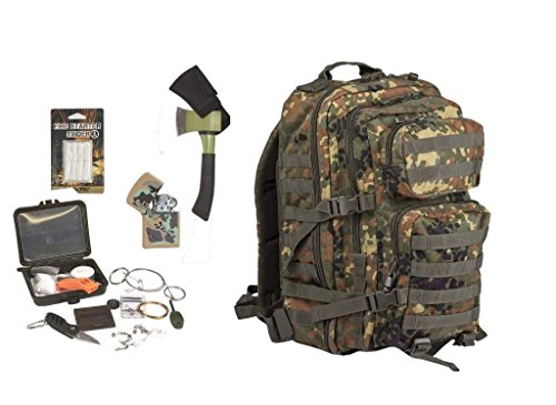AOS-Outdoor Survival Set Trekking Outdoor Set flecktarn