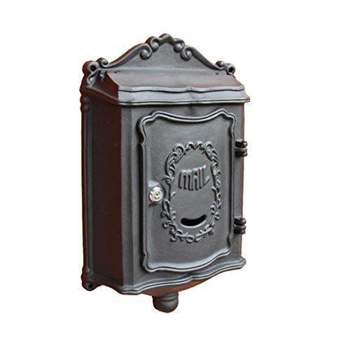 XXH Villa Letter Box Panel Frontal Exterior De Aluminio Fundido De Aluminio  Al Aire Libre Caja De Periódico Colgante De Pared Caja De Buzón De