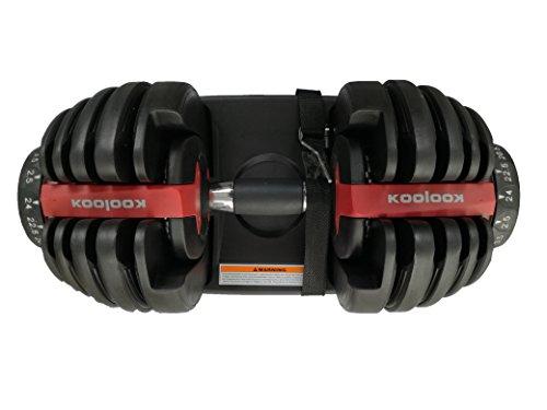 KOOLOOK Coppia di MANUBRI A CARICO Regolabile 24 kg + 24 kg