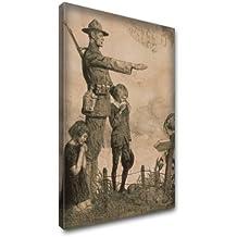 """""""Vintage Collection 1, impresión para pintura artística tela moderno visario-Cuadro decorativo murale. Tamaño: 16 x, 40,5 x 22"""" 56 cm, varios modelos y tamaños disponibles., algodón, Vintage America Owes France, Toile 16X22"""